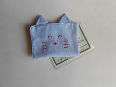 Porta-documentos Gatinho - Jeans (O Jardim Acessórios) Tags: portacartões cartões algodão tecido carteirinha gato presente cute artesanal pocket portadocumentos gatinho