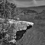 A Focus on Hawksbill Crag (Black & White) thumbnail