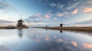 Last Light in Kinderdijk today.