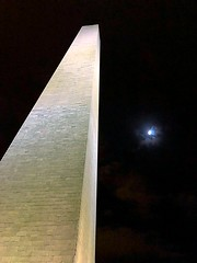 Moon 🌝 (#KPbIM) Tags: 2017 winter december travel trip dc maryland vacation washington virginia america monument flag night stella usa moon up