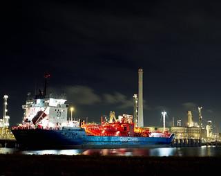 Ship in the harbor