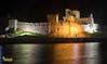 Peel Castle at Night - Peel, Isle of Man (staneastwood) Tags: stanleyeastwood staneastwood coast water shore beach harbour shoreline bay cloud sky isleofman im