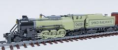 Type 33.01 4-6-4 locomotive (Sunder_59) Tags: lego moc render blender3d mecabricks transport train steam rail locomotive engine vehicle