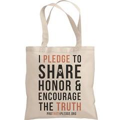 Buy Pro Truth Pledge Tote Bag (paradigmtech) Tags: bluetshirt protruthpledgeshirt 3247 honorencouragethetruth protruthpledge tshirt bag cup mug rationalthinking