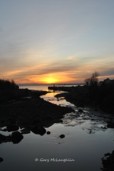 Where the river meets the sea (Gary Rock Photo) Tags: sunset sea lough swilly mill river inishowen ireland codonegal