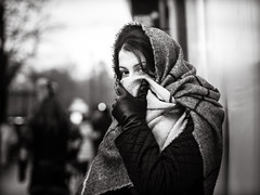 veiled (grizzleur) Tags: karneval omd olympusomdem10mkii omdstreetphotography bw mono monochrome blackandwhite street photography candid portrait streetportrait streetcandid veil veiled scarf headscarf eyes eyecontact intense beauty beautiful pretty olylove olympus oly 85mm