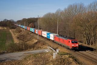 DB 189 009 + Güterzug / goederentrein / freight train - Plänitz
