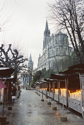 Lourdes Basilica and Candles (1)