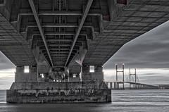 Under the Bridge (Trigger1980) Tags: nikon nikond7000 nite night nikonflickraward national nd fisheye severn river water bristol bridge bore beach big crossing estuary cycle path south wales