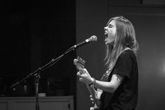 Turn Out the Lights (thisbrokenwheel) Tags: irenic julienbaker sandiego turnoutthelights blackandwhite folk guitar indie music queer singer songwriter