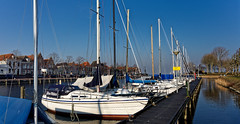 Winter Line Up In The Harbour (Alfred Grupstra) Tags: nauticalvessel harbor yacht marina water sailboat pier outdoors sea commercialdock blue sailing summer jetty moored europe sky vacations nature travel