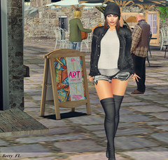 Casual goes art (bettyfl) Tags: betty bettyfl fashionista fashionlover model modeling casual hypergrid opensim art pose photographer
