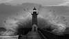 Surrounded (Jose Viegas) Tags: fozdodouro porto portugal storm badweather bigwaves farol faroldefelgueiras olympusem1markii