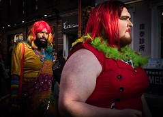 Lady in Red (XBeauPhoto) Tags: fujx100f lgbt london beardedlady beards chinatown chinese citylife ladyinred red streetphoto trans streetphotography urbanstreet urban streetcandid