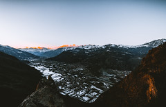DSC01167 (Max_from_Pine) Tags: snow mountain monti della luna cesana sestriere sunset alps tealorange travel explore create path walk trekking
