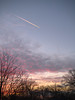 MMFC1253 (Paul Henegan) Tags: 90mm mamiya645afd mamiyasekord645zoomaf75~150mm145snhh3007 clouds contrail dusk f45 sky trees