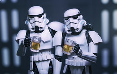 Beer O'Clock for the Troopers (Jezbags) Tags: beer oclock troopers trooper stormtrooper stormtroopers starwars canon canon80d 80d 100mm macro macrophotography macrodreams chill deathstar toy toys actionfigure