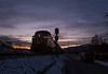 Clinchfield Sunset (WillJordanPhoto) Tags: clinchfield unicoi tennesee erwin sunset mountains coal train csx railroad crr transportation signal logistics night light snow kingsportsubdivision blueridge