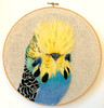 Budgie (Wattletree Crafts / Cat Gabriel Art) Tags: needlefelting budgie 2d picture felted