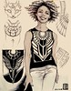 Daily Sketch - Day #15,119 (E L Y N X) Tags: woman lady female egyptian pattern feline cat illustration tank top tshirt sleeveless shirt wing scarab beetle