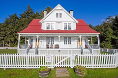 Keeper's House Closed (Tom Fenske Photography) Tags: coast historic lighthouse keeper symmetry bb oregon newport