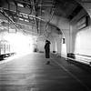 On the Platform (Rei_312) Tags: portrait mamiyac330 sekor65mm kodak 400tx selfdevelopment d76 railway monochrome