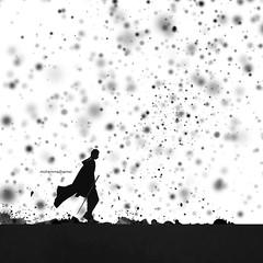 Never stop (mhd.hamwi) Tags: walking never stop man silhouette lonely alone snow cold digitalart art storm sad syria syrian syrianheart michigan lakemichigan chicago usa mhdhamwi mohammadhamwi mrnobody nikon nikond5000