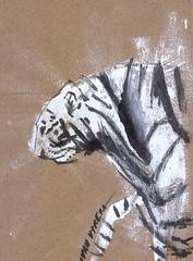 tigre en acrilico (ivanutrera) Tags: tigre acrilico painting paintwork paintbrush brushwork animal tiger felino
