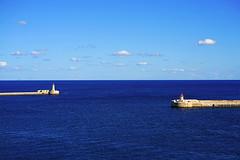Between St Elmo & Ricasoli lighthouses, Malta (Andrey Sulitskiy) Tags: malta valletta