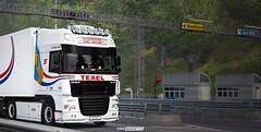 Christmas Tree on Wheels WiP [ETS2] (gripshotz) Tags: daf xf 105 schouwstra texel jp vis ekeri trailer euro truck simulator ets 2