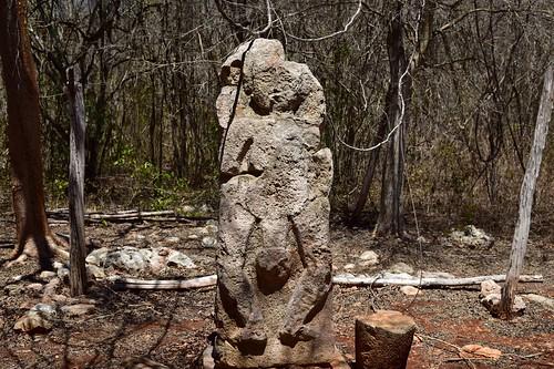 Mayan? stele at Sayil