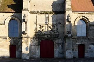 Façade Renaissance de l'église de Blérancourt