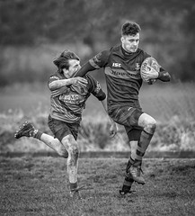 Back Off (Chris Willis 10) Tags: rugbymoore sport outdoors athlete competition men muscularbuild competitivesport people running action strength exercising sportstraining obstaclecourse sportsteam males rivalry adult challenge healthylifestyle mono monochrome black white