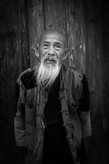 Old Man in Guilin (mlhell) Tags: blackwhite china cormorantfishermen guilin portrait rural xingping