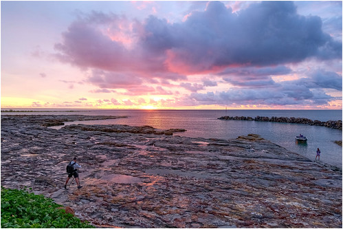 Sunset after the storm - Nightcliff Boatharbour, Darwin Harbour, Northern Territory, Australia