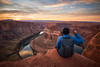 DSC00839 (bboynail) Tags: horseshoe northface arizona nature landscape horseshoebend peace sunset