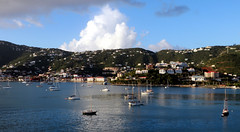 Charlotte Amalie, St. Thomas Harbor 4 (Gail Frederick) Tags: caribbean stthomas clouds harbour water