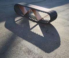 . (SA_Steve) Tags: bench seat seating florida miami shadows shadow texture lines tank rubber metal