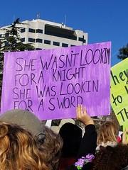 Sword (quinn.anya) Tags: sign knight sword womensmarch womensmarchoakland womensmarch2018