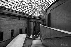 The British Museum (Alec_Hickman) Tags: museum british london bloomsbury westend monochrome blackandwhite shadows light architecture building staircase stairs england