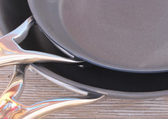 034/365 Sexy Skillets? (Helen Orozco) Tags: skillets cookware copper 34365 curves 2018365 anolon kitchen