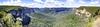 Govett's Leap - Pano (mjhedge) Tags: bluemountains australia katoomba panorama pano landscape rockformation fuji fujifilm xt1 xf1855mm newsouthwales govettsleap waterfall majestic