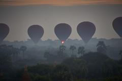 Bagan - Myanmar (Manuel_MH) Tags: sony alpha 77 77ii ii myanmar bhurma temple pagoda sunrise hot air balloon nature dust bagan