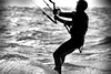 moody Kite surfing (Asarum Images (asarumimages.weebly.com)) Tags: paragliding watersport southend sport asarumimages asarum canon canonphotography canoneos6d sigma100600 bw blackandwhite lone