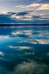 Reflections (Ákos Fekete) Tags: reflection water summer sunset clouds blue sky dawn shine nature lake warm waves evening adács hungary yellow orange green peace peaceful sony sonyalpha6000 selp1650 view wiev clear beautiful beautifulcapture mbpictures