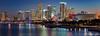 Miami twilight reflection (funtor) Tags: night blue light skyline city twilight colors panorama miami florida