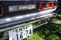 bluebird (fe2cruz) Tags: car automobile japanese japaneseclassiccarshow longbeach datsun nissan bluebird 7dwf
