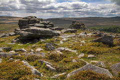 Radioactive (Christian Hacker) Tags: dartmoor belstonetor granite landscape nationalpark heather sunny cloudy clouds overcast moorland uk canon eos50d tamron 1750mm rocks rocky boulders outcrops geology hills hilly outdoors hike hiking devon rockformation lichen moss