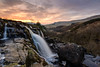 Fintry Falls Sunset (w.mekwi photography [here & there]) Tags: longexposure trees waterfall wmekwiphotography scotland fintryloup stirlingshire nature water sun uk landscape falls boulders nikond800 rocks