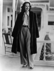 PBDHELA EC037 (LillianGishs) Tags: 1930sfashion 1930sportraits baggypants evin fashion fulllength furcoat lamarr hedy mink pg pleated portrait twotoneshoes